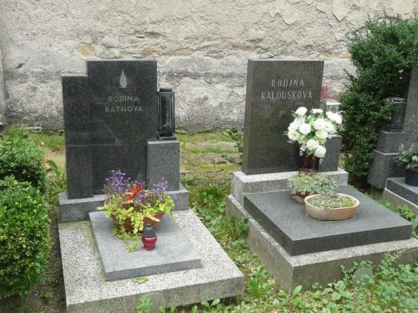 Rath a Kalousek vedle sebe na hřbitově